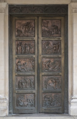 Pair of Bronze Doors