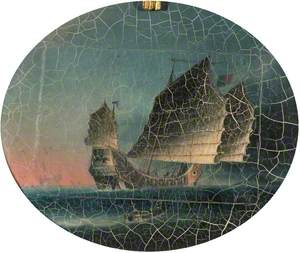 Oriental Seascape with Sailing Boat