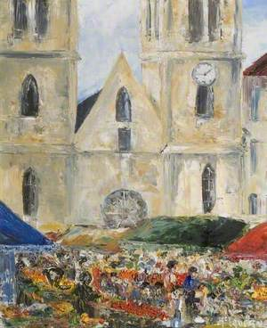 The Market and the Cathedral, Bourgoin-Jallieu, France