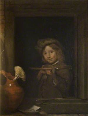 Boy at a Window with a Crossbow