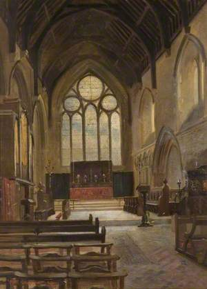 Interior of St James' Chapel, Magdalen College School, Brackley, Northamptonshire