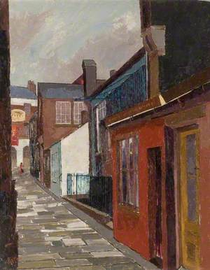 Barber's Lane from Waller Street, Luton, Bedfordshire