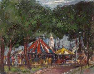 Fair in Wardown, Luton, Bedfordshire