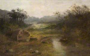 Landscape with a Cottage and a Stream