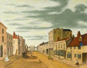 View towards the Town Hall at George Street, Luton, Bedfordshire