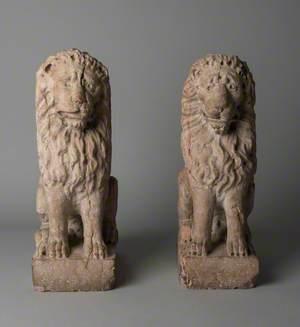 Pair of Venetian Lions