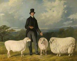 Valentine Barford (1786–1864), with His Purebred Sheep