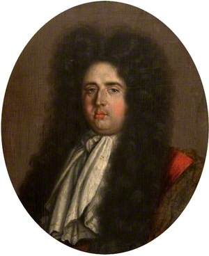 Portrait of a Gentleman in a Full Wig with a Large White Tie