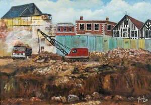 Building Site for the Arndale Centre, Looking towards Midland Road, Wellingborough, Northamptonshire*