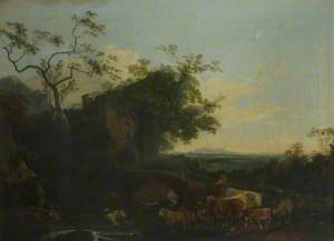 Landscape with Gateway and Cattle