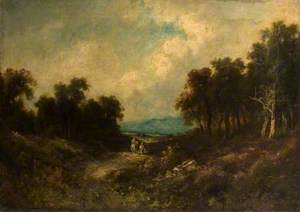 Hilly Landscape with Two Figures on a Track*