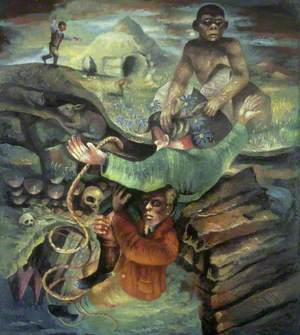 Painting on a Darwinian Theme
