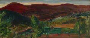 Landscape, Evening, Cagnes