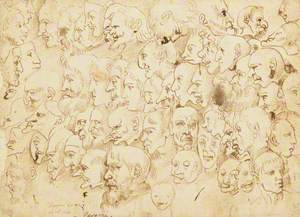 Sheet of Caricature Heads