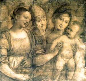 The Madonna and Child with Saint Mary Magdalene and a Bishop