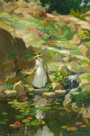 Lady Barber in Her Rock Garden