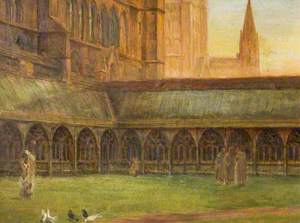 Lincoln Cathedral, the Cloisters