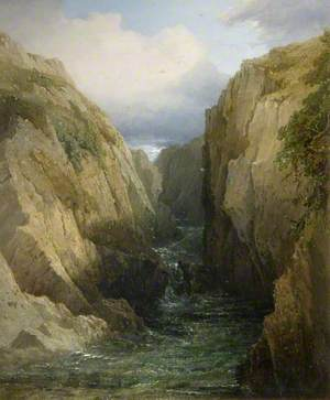 Gorge and River in Ireland