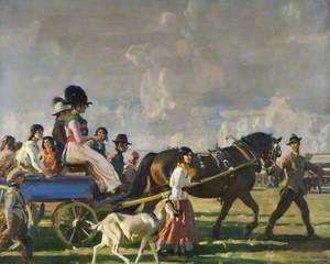 Arrival at Epsom Downs for Derby Week