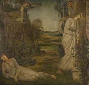 Zephyrus Bearing Psyche (Palace Green Murals)