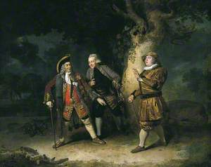 Garrick, Ackman and Bransby in a Scene from Lethe