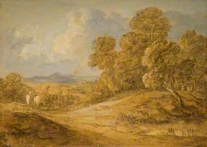 Wooded Landscape with Figures on Horseback