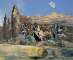 Landscape of the Moon's First Quarter