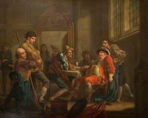 Sir John Falstaff Raising Recruits
