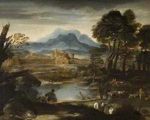 Landscape with a Lake and a Walled Town