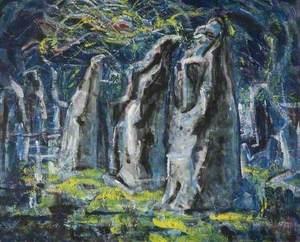 Moonlight at Thetford Priory