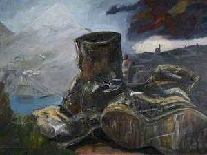 Still Life with Work Boots