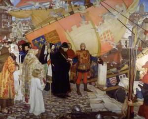 The Departure of John and Sebastian Cabot on their First Voyage of Discovery, 1497