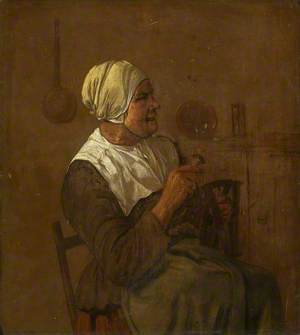 An Old Woman Seated