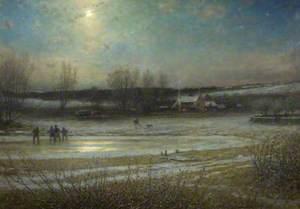A Frosty Night: The Frozen Mill Pond
