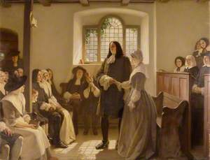 The Marriage of William Penn and Hannah Callowhill at the Friends' Meeting House, The Friary, Bristol, 1696