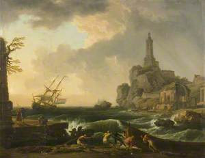 Genoa Lighthouse and the Temple of Minerva Medica