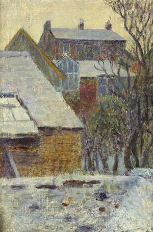 Winter Scene from the Artist's House, Newlyn