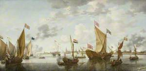 Shipping on the Schelde off Antwerp