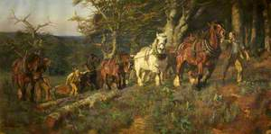 Timber-Hauling in the New Forest