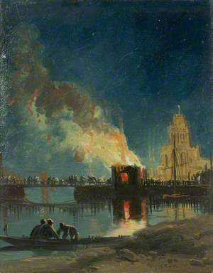 Bristol Riots: The Burning of the Toll Houses, Prince Street Bridge