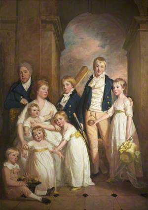 Thomas Tyndall with Wife and Children
