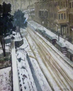 Charlotte Street, Bristol, in Snow