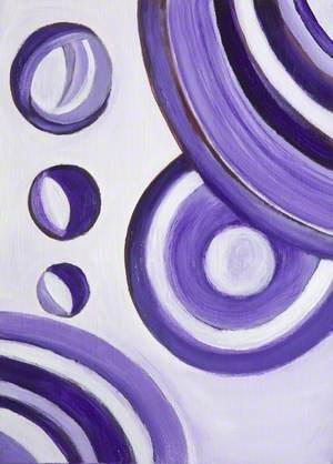 White and Purple Abstract, No. 8