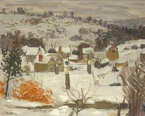 Cotswold Village, under Snow
