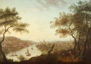 Distant View of Bristol from Ashton Court with Merchants' Dock and Clifton Wood
