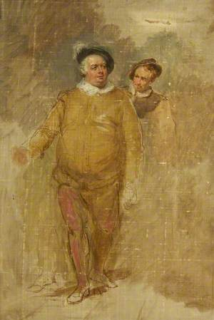 William Downton as Falstaff and George Smith as Bardolph in 'Henry IV', Part I