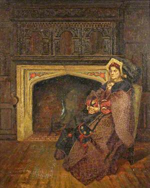Mrs Charles Calvert as the Old Lady in 'Henry Vlll', His Majesty's Theatre