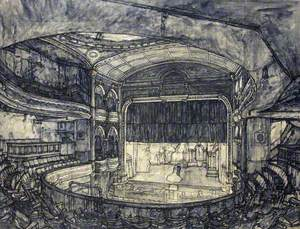 The Darkened Theatre, Interior Scene of the Bristol Empire and Music Hall in the 1940s