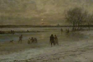 Winter Scene in Holland