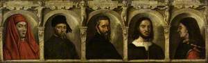 Portraits of Five Artists: Giotto, Donatello, Michelangelo, Raphael and Brunelleschi
